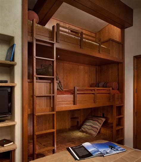 bunk beds with dresser built in built in bunk beds for a rustic kids with a under bed