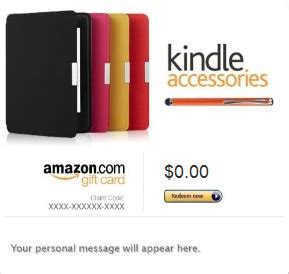 Amazon Kindle Gift Cards Where To Buy - amazon 100 free kindle accessories promotion