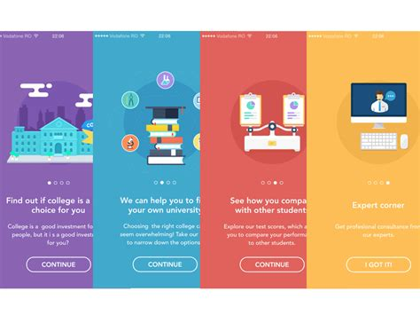 app design help onboarding animations illustrators photoshop and app