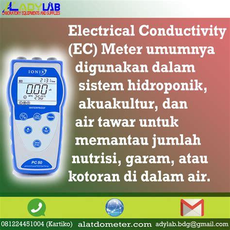 Tds Meter Bandung hubungan ph tds dan conductivity meter