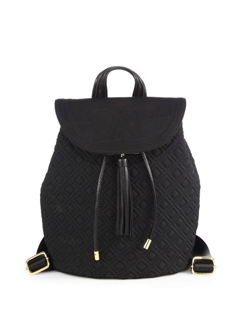 burch fleming small quilted backpack in