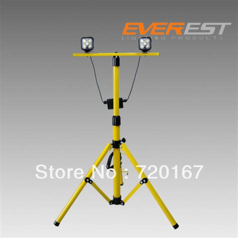 Twin Head Telescoping Tripod Stand Led Work Light For Outdoor Light Stand