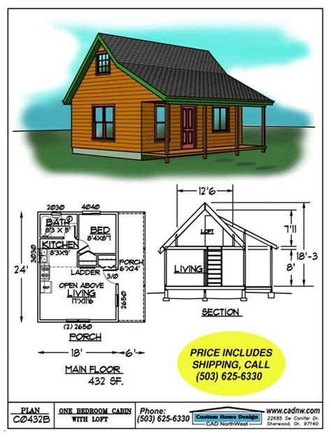 floor plans for small cabins small cabin floor plans c0432b cabin plan details tiny