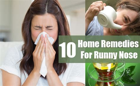 10 runny nose treatments and cures usa uk