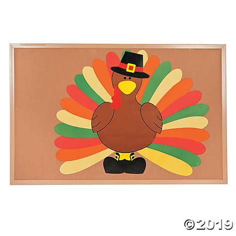 turkey template for bulletin board diy turkey bulletin board set