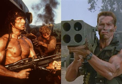 watch film rambo movie showdown sylvester stallone vs arnold schwarzenegger