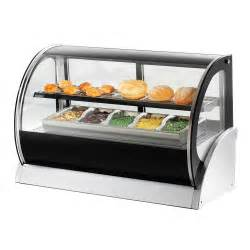 vollrath 40856 48 quot curved glass heated countertop display