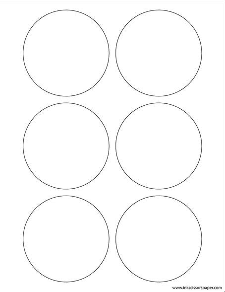 Template 3 1 4 Inch Round Labels Inkscissorspaper 1 X 4 Inch Label Template