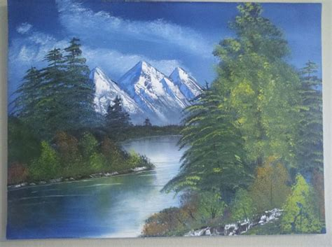 bob ross painting lake mountain and lake 4 bob ross my