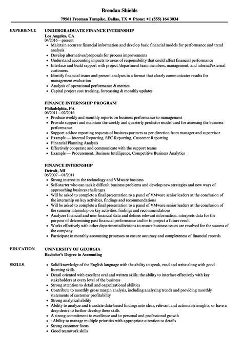 finance intern finance intern resume talktomartyb