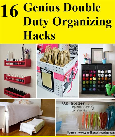 life hacks for home organization 16 genius double duty organizing hacks home and life tips