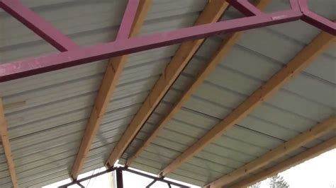 Roof Building Plans by Steel Trusses For Utility Buildings Quot Diy Quot Youtube