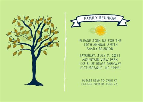 printable family reunion invitation cards doc 15001071 free printable family reunion invitations
