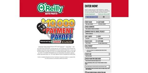 O Reilly Sweepstakes - oreillysweeps com o reilly 10 000 payment payoff sweepstakes