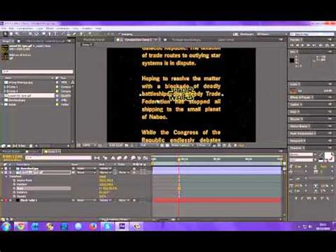tutorial after effect download download link youtube adobe after effects star wars intro