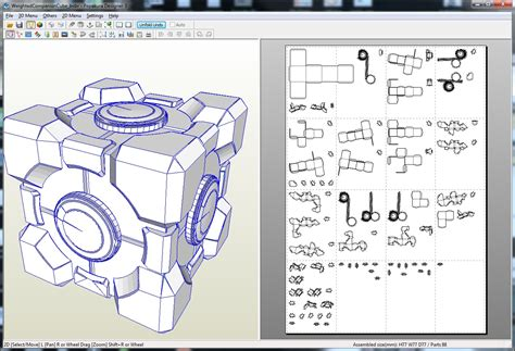 Papercraft Files - how to make a companion cube from portal