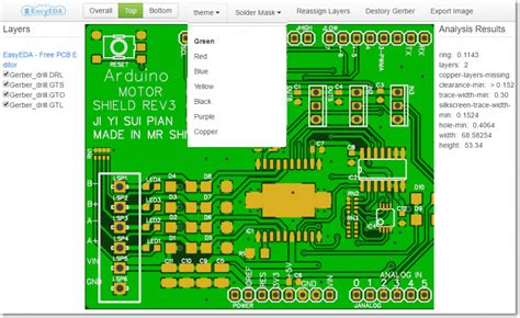 pcb layout software gerber easyeda s free and online gerber viewer electronics lab