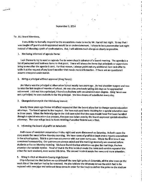 Letter Invitation Join Editorial Board Letter To Houston County School Board Members Dothaneagle
