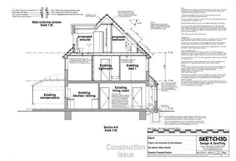 Section Through Dormer Window Exle Loft Conversion Plan 3