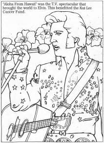 dartman s world of elvis month 2010 color the king - Elvis Coloring Pages