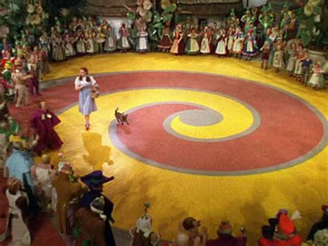 the wizard of oz where did the red brick road lead to