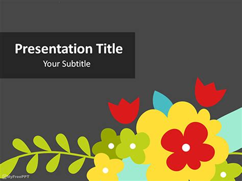 Free Flowers Powerpoint Templates Themes Ppt Festive Powerpoint Templates