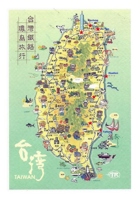 map of for tourists maps update 11071536 taiwan map for tourist