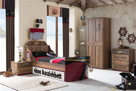 kinderzimmer mobel piraten ahoy piraten kinderzimmer set in braun 6tlg ohne