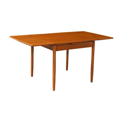 square dining room table with leaf danish modern teak square draw leaf dining table at 1stdibs
