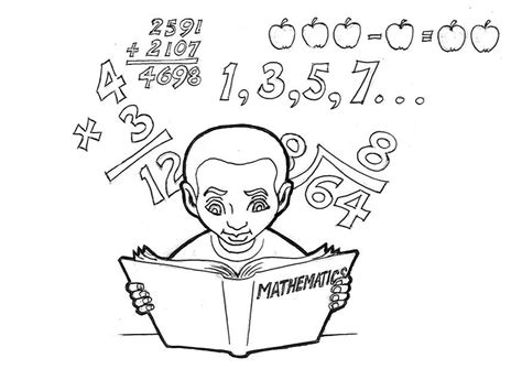 imagenes estudiando matematicas dibujo para colorear estudiando matem 225 ticas img 16613