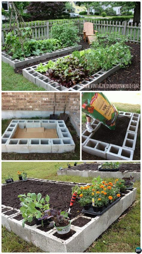 Easy Raised Garden Bed Ideas by Diy Raised Garden Bed Ideas Free Plans