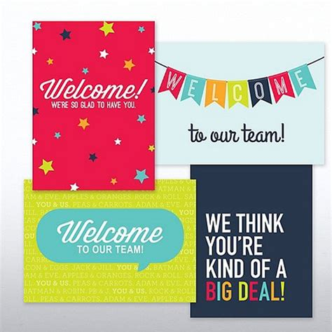 welcome to the team card template on boarding welcome card set at baudville