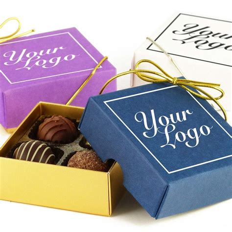 small personalised chocolate gift box 4 truffles
