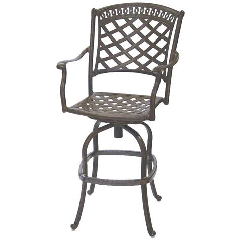 cast aluminum bar stools patio furniture bar stool swivel cast aluminum sedona