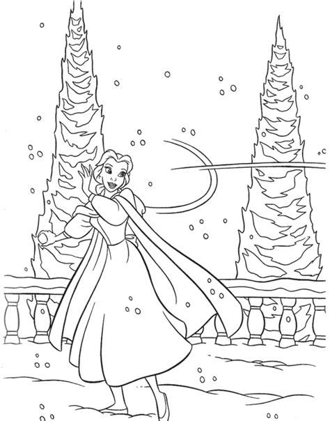 disney princess winter coloring pages az coloring pages