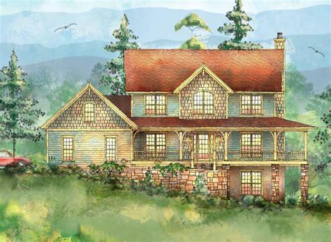 mountain home with wrap around porch 26703gg