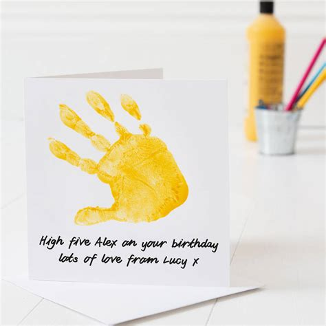 Birthday Card Template Handprint by Personalised Print Birthday Card By Twenty Seven