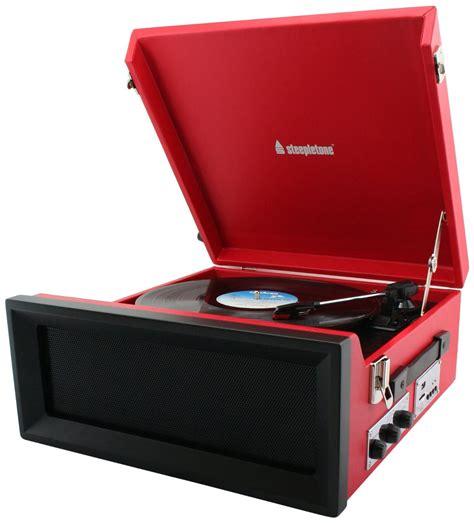Record Uk Steepletone Srp1r 11 Retro Vinyl Record Player Vinyl Record Player