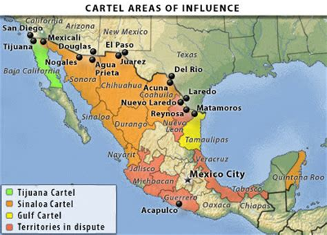 south of mexico map borderland beat maps of the mexico cartels