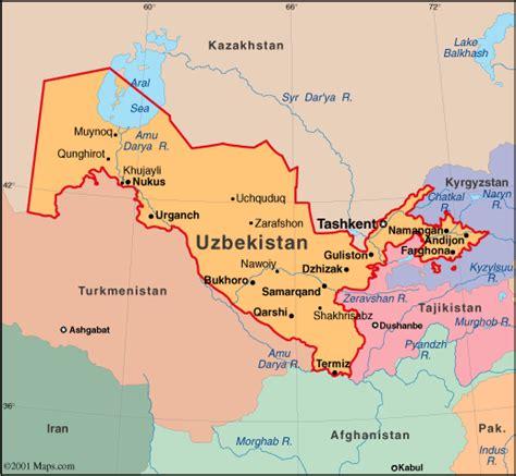 uzbekistan world map atlas uzbekistan