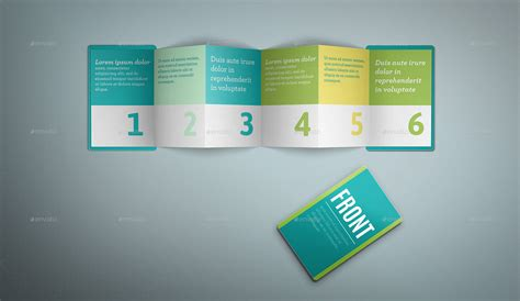 Z Fold Card Template by 6 Fold Brochure Brickhost 86458485bc37