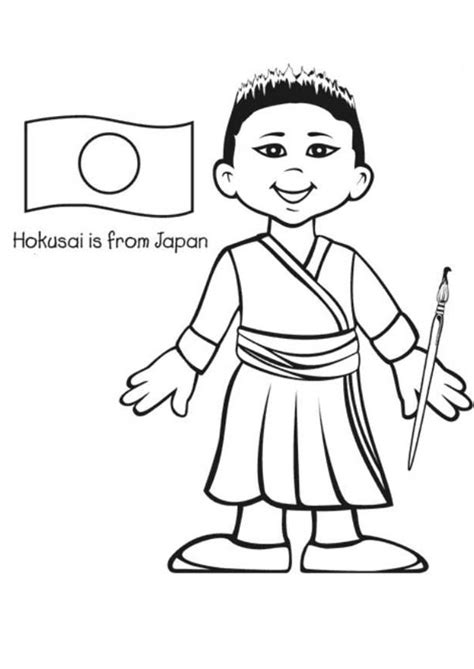 Japanese Boy Coloring Page | 93 japanese boy coloring page japanese boy and girl