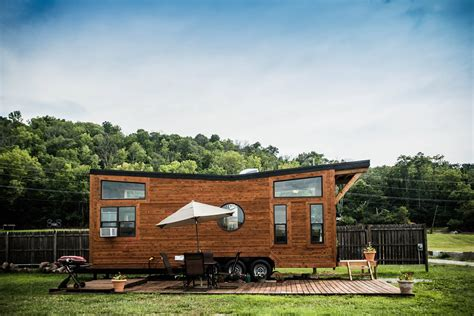 tiny house vacation home the industrial wheel life tiny house vacation in ky