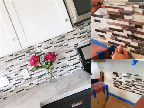 diy mosaic glass tile backsplash home decorating trends