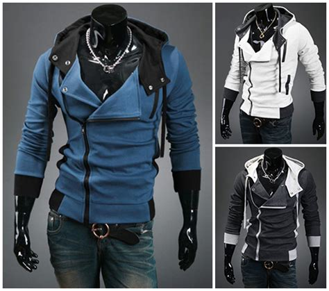 Jaket Asasin Blue Black assassin creed hoodie come in blue white gray black and future closet