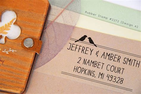 personalized rubber sts for wedding invitations beautiful custom address rubber st for wedding