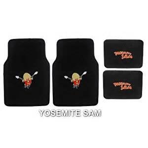 4pc looney tunes yosemite sam front and rear floor mats