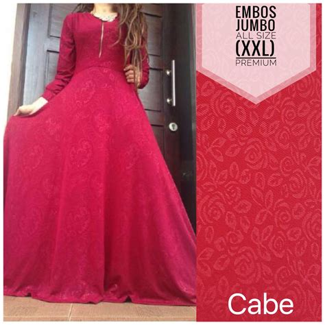 Embos Jumbo by Gamis Jersey Embos Jumbo Fit Jamilah Colection Pusat
