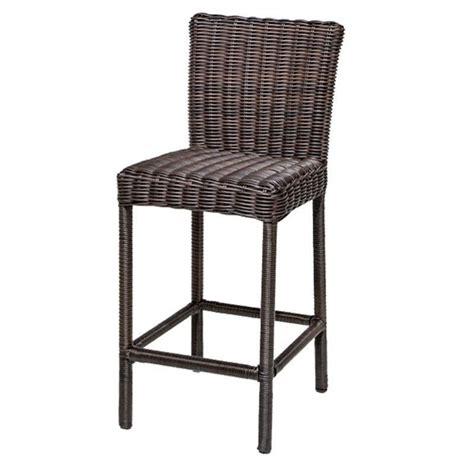 outdoor wicker bar stool tkc venice outdoor wicker bar stools in chestnut brown
