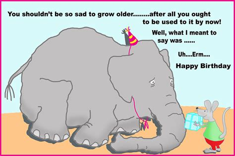 printable birthday cards elephant funny printable birthday cards